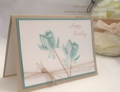 stampin up card lotus flower | have a beautiful card to share with you today using the Lotus ...