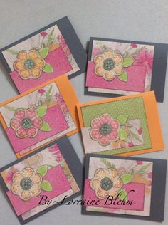 Hostess cards made with Close To My Heart Lucy paper pack and Art Philosophy