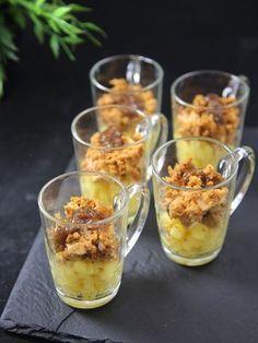 Verrine foie gras pommes et pain d'épices - Recette de cuisine Marmiton : une recette