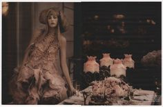Fleur De Nuit Styling : Christiane Arp photo: Karl Lagerfeld Vogue Germany / May 2015    flowers by Karuna Balloo Horticultrice Textile Paris © www.karunaballoo.fr press : stephanesaclier.com