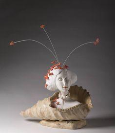 """Saatchi Art Artist Edna Dali; Sculpture, """"Butterflies Girl"""" #art"""
