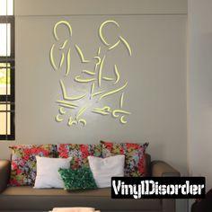 Billiard Wall Decal - Vinyl Sticker - Car Sticker - Die Cut Sticker - CDSCOLOR035