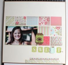 Stampin' Up!  Scrapbook Layout  Heather Summers  Everyday Enchantment