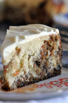Cheesecake Factory Carrot Cake Cheesecake--Easter dessert maybe :) Cheesecake Factory Carrot Cake, Cheesecake Recipes, Cheesecake Frosting, Ultimate Cheesecake, Cheesecake Pudding, Yummy Treats, Sweet Treats, Yummy Food, Delicious Recipes