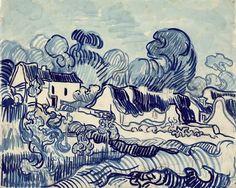 Vincent van Gogh (1853-1890), Landscape with houses, 1890, Van Gogh Museum, Amsterdam (Vincent van Gogh Foundation)