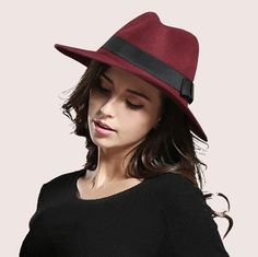 Womens fedora hat with bow trilby fashion felt hats for winter 99 Best women images | Black fedora,