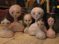 paper mache doll heads