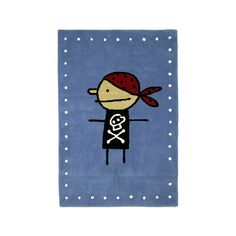 Large, handmade carpet with a cute little pirate Room Inspiration, Kids Room, Child Room, Kids Outfits, Snoopy, Rugs, Handmade, Fictional Characters, Home Decor