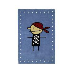 Pirat matta - Pirat matta - blå