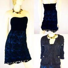 Size 10 Pins & Needles Dress Size 10 Pins & Needles Dress   bust 36, built in bra, waist 32, hips 42, length 27, strapless, EUC.  Karen Kane medium linen jacket   bust 38, waist 34, length 23, sleeve length 18, shoulders 35, 100% linen, rhinestone buttons, EUC  This listing is for the dress only.  #KarenKane #LinenJacket #ForThoseBreezyNights #LinenAndLace #ShopMyCloset #STSizeMedium #UpCyclingForUpscale  #UrbanOutfitters #pinsandneedles #straplessdress # Urban Outfitters Dresses Strapless