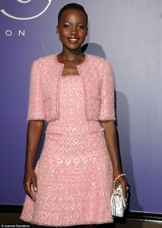 Pure radiance: Featuring a chic cropped blazer and a flattering skater-style skirt, the eye-catching ensemble was embossed with silver foil detailing Beige Coat, Skater Style, Cropped Blazer, Iconic Women, Pink Outfits, Pink Candy, Fashion Addict, Skirt Fashion, Casual Chic