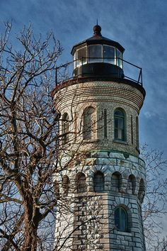 Close up of Fort Niagara #Lighthouse - Located on the Niagara River on the south shore of Lake Ontario in Youngstown, NY
