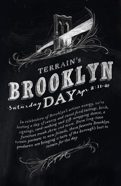 Fabulous typography and I love the Brooklyn Bridge illustration... Now, if I could only make it to NYC for event!