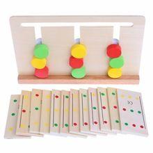 Nuevo Llega El Bebé de Juguete De Madera Montessori Material Sensorial de Clasificación de Color Juego Temprano de Juguetes Educativos Para Niños(China (Mainland))