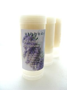 Lavender Solid Lotion Bar by urbbody on Etsy