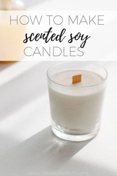 Homemade Scented Candles, Expensive Candles, Soy Candle Making, Essential Oil Candles, Soy Wax Candles, Candle Wax, Make Candles, Diy Candles Jars, Diy Candles Recipe