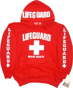 Lifeguard Miami Beach Hoodie Sweatshirt S