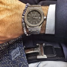 "Mr. Zaffarano sporting a beautiful Viola Milano combo with ""Denim Sky"" & AP watch…    www.violamilano.com  #vm #violamilano #ap #audemarspiguet #watchporn #dailywatch #luxury #hermes #essential #timeless #menswear #details #italian #inspiration"