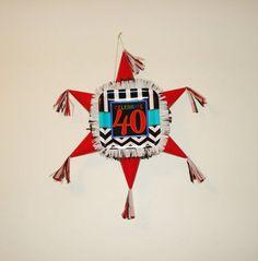 40th Birthday Pinata. Star shaped Pinata  #Handmade #BirthdayChild