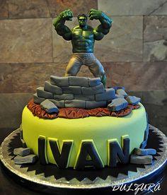 TARTA HULK FONDANT Hulk Cakes, Birthday Cake, Party, Desserts, Photos, Food, Avengers, Fondant Cakes, Tailgate Desserts