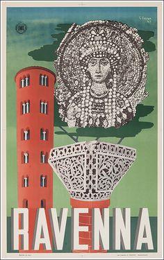 1947 Ravenna, Italy vintage travel poster