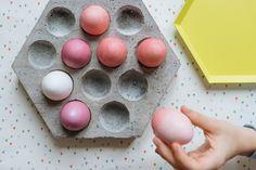DIY concrete hexagon egg tray | Kittenhood