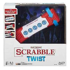 Hasbro Electronic Scrabble Twist Handheld Crossword Puzzle Game for sale online Kids Store, Toy Store, Word Twist, Crossword Puzzle Games, Best Family Board Games, Letter N Words, Toys R Us Canada, Game Sales, English