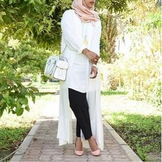 long white cardigan hijab style- Hijab fashion and Muslim style http://www.justtrendygirls.com/hijab-fashion-and-muslim-style/