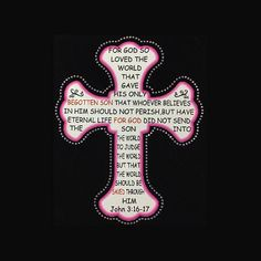Faith John 3:16 Printed Cross 9x8 Faith Printed