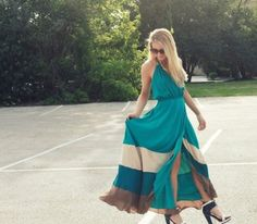 $585 Haute Hippie Cascade Silk Maxi Dress - Colorblock