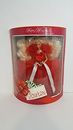 1988 Happy Holiday Barbie First Collectible Series in Box *** You can find out more details at the link of the image-affiliate link. #BarbieDollsCollectibles