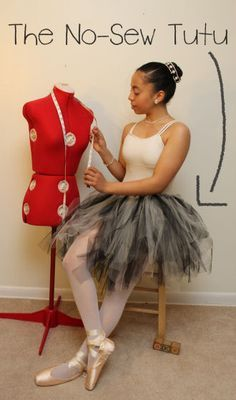 How to Make The No-Sew Tutu. How to Make a tutu from ribbon and netting.  I really want to try to make one.  I like the way she did the one she is wearing.