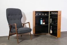 Danish Modern Recliner by Westnofa and Teak Bar Cabinet by J. Clausen   $1400 & $1200  MIDCENTURY MODERN FINDS