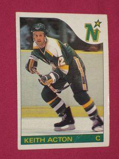 1985-86 #82 Keith Acton, O-Pee-Chee OPC, Minnesota North Stars NHL Card | eBay Hockey Teams, Hockey Players, Ice Hockey, Minnesota North Stars, Minnesota Wild, Hockey Cards, Baseball Cards, Wild North, Winter Sports