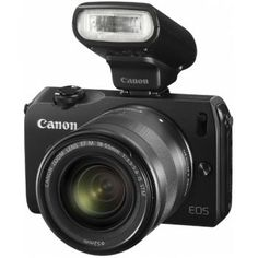 Canon enters the mirror-less, interchangeable lens camera market with the EOS M, a small camera capable of using all EF and EF-S lenses via an adapter Canon Eos, Camera Hacks, Camera Gear, Dslr Cameras, Best Digital Camera, Digital Cameras, Digital Slr, Latest Camera, Photography Reviews