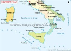 National Geographic Map Of Southern Italy And Sicily Southern
