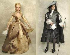 Angelique & Joffrey, based on 'The Corriders of the Louvre' by Sergeanne Golon.: Crawford Manor - Custom made Dolls