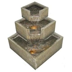 Smart Garden 46200 Cascadia Falls Electric Corner Fountain with LEDs Tabletop Water Fountain, Diy Fountain, Fountain Design, Indoor Water Fountains, Garden Fountains, Outdoor Fountains, Indoor Waterfall, Waterfall Fountain, Outdoor Hammock