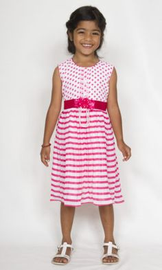 Smart Casual Wear For Girls. Beautiful smart casual dresses for girls from ages 2 to 12 years. Comfortable to wear and great looking dresses. Smart Casual Wear For Girls, Girls Casual Dresses, Summer Dresses, Cotton Dresses, Pretty Dresses, Pink Girl, How To Wear, Beautiful, Fashion