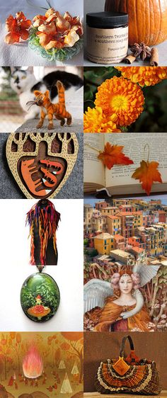 Energy from orange... by Skadia Bojakowska-Radwan on Etsy--Pinned with TreasuryPin.com Wreaths, Orange, Halloween, Painting, Etsy, Home Decor, Art, Art Background, Decoration Home