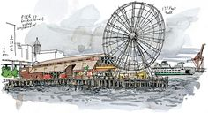 The Seattle Great Wheel via The Seattle Times