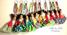 Frida Kahlo doll ornament Frida key chain by littlesbyBella
