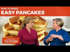 How to Make the Easiest Pancakes Ever - YouTube What's For Breakfast, Breakfast Buffet, Breakfast Items, Breakfast Casserole, Pancakes From Scratch, Pancakes Easy, Pancakes And Waffles, Brunch Recipes, Baby Food Recipes