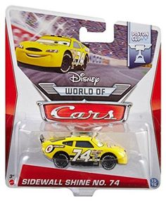 Amazon.com: Disney World of Cars, Piston Cup Die-Cast Vehicle, Sidewall Shine No. 74 #15/16, 1:55 Scale: Toys & Games