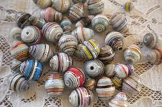 paper map beads - Google Search