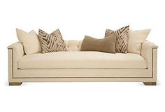 Escape Without Leaving Home | One Kings Lane...  This is a nice way to arrange a Pillow Pile...