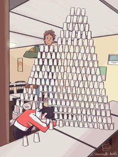 keith woke up before lance could finish his plastic mount everest and ruined his masterpiece. he was so angry he chased lance around the place with his knife in one hand and a bucket of ice in the...