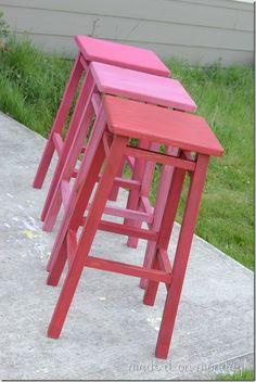 paint technique stools - Google Search