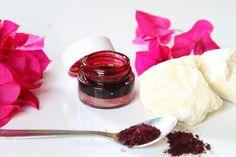 Beetroot tinted natural lip balm