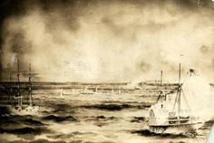 June 9, 1864: the SS Pevensey, a Confederate blockade runner was run aground at Pine Knoll Shores.